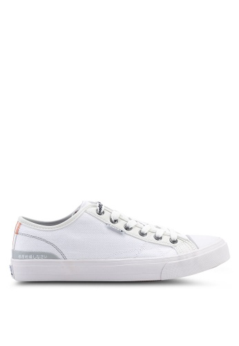 Superdry white Trophy Classic Low Sneakers 2C92BSH9D6E0F2GS_1