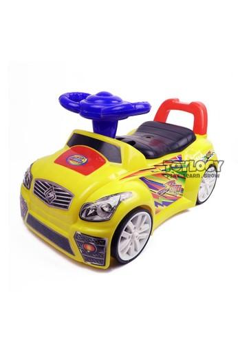 Toylogy yellow Mainan Mobil Tunggang Anak Duduk Dorong Tarik Riding Car 200 KUNING DE6C7TH106BC11GS_1