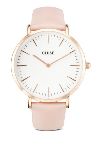 CLUSE pink La Boheme Rose Gold White/Pink CL18014 Watch CL977AC0RDAZMY_1