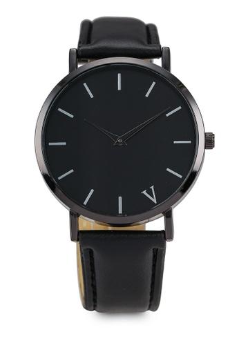 NUVEAU black Round Face Black/Black Strap Watch NU245AC0SBIOMY_1