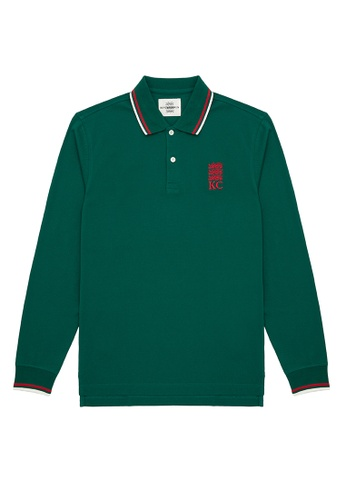 Kent and Curwen green Long Sleeve Polo Shirt CCE2EAAE957137GS_1
