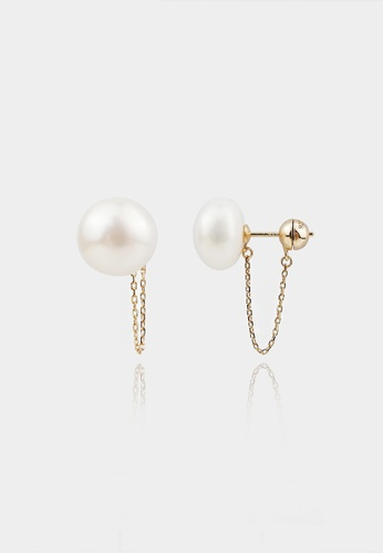 monojewelry OILLE PEARL CHAIN EARRINGS 90E52AC738BC3DGS_1