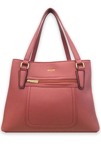 RUCINI pink Rucini Tote with Front Pouch Pink 3E55AACE0B5428GS_1