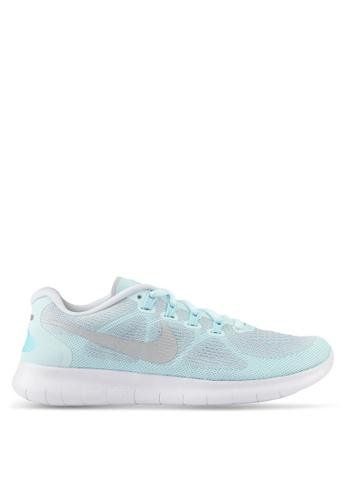 Nike blue Women's Nike Free RN 2017 Running Shoes NI126SH0SHGNMY_1
