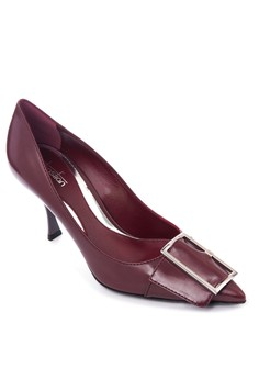 Sebastian Pointed Toe Heel Pumps with Buckle
