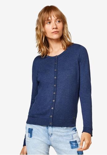 ESPRIT navy Long Sleeve Sweater Cardigan 57F09AA11CA2D7GS_1