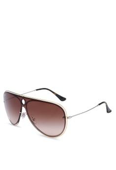 7094225c25 Ray-Ban gold Highstreet RB3605N Sunglasses 9722EGL50D0DF5GS_1