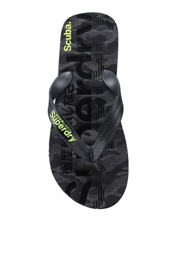 Superdry black Scuba Grit Flip Flops 5B5EESHE101494GS_1