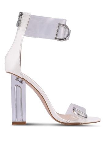 Public Desire white Tonic Heels 99EC8SH9247E8BGS_1