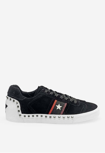 ASH black Neo - Black Rivets embroidery Low-Top Sneakers D9EE8SH79A333BGS_1