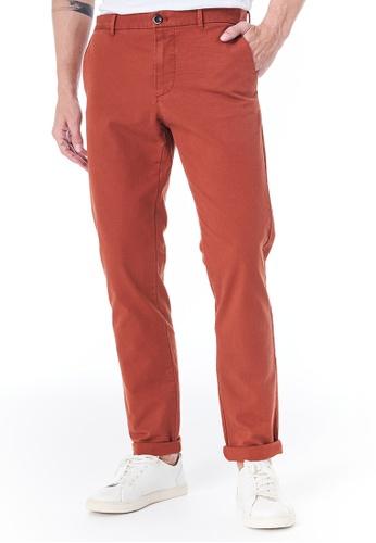 Sisley red Slim Fit Chinos 33318AAFC05108GS_1
