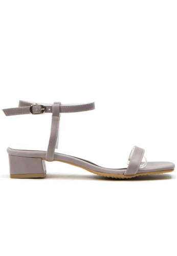 Crystal Korea Fashion 灰色 韓國製夏季百搭舒適平底涼鞋 8BD05SH0C2BE2FGS_1