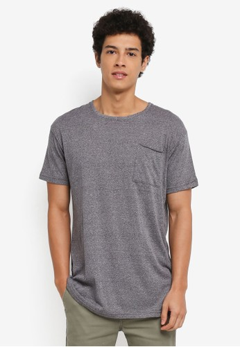 Factorie grey Shaded Curve Pocket Tee 963EAAACEB04F3GS_1