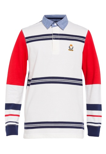 bf46de16dcd CHAPS multi Heritage Collection Striped Rugby Shirt C61A9AA3056B6CGS_1