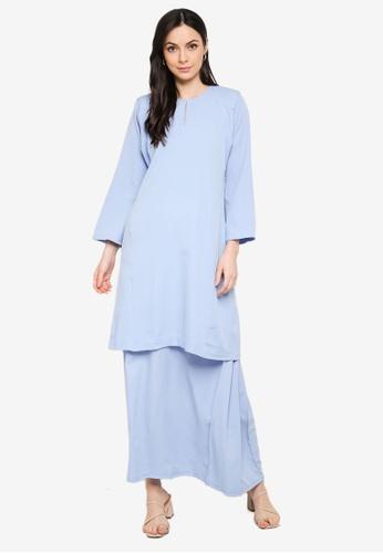 Butik Sireh Pinang blue Baju Kurung Pahang Salimah 2CD37AA96EE254GS_1