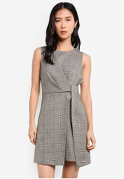 Mango grey and brown Houndstooth Dress MA193AA0SD17MY_1