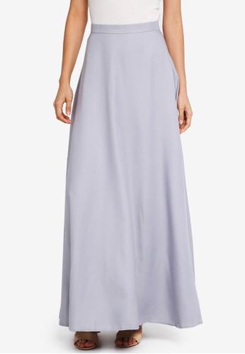 Soonaru grey Flare Skirt 96462AAAA043EDGS_1