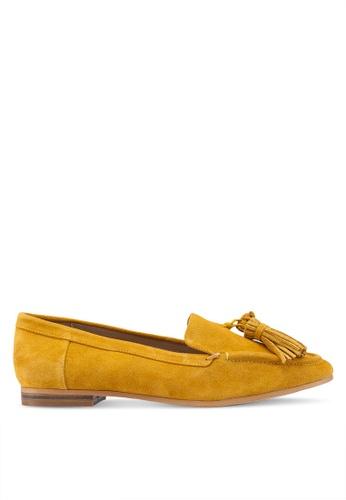 TOPSHOP 黃色 麂皮樂福鞋 19FC7SHA260982GS_1