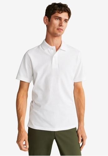 Mango Man white Cotton Basic Polo Shirt 93D55AA3B0A9F4GS_1