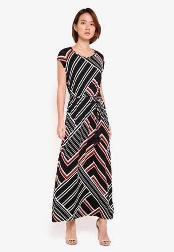 Dorothy Perkins black Petite Tassel Front Maxi Dress 56022AAF97B53CGS_1