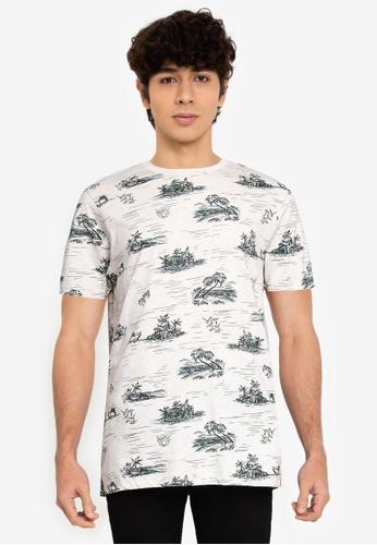 Springfield white Beach T-Shirt 83660AA01B2F91GS_1