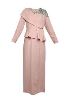 e73a6468249 Lubna purple Asymmetrical Drape Dress D0DA0AA303E8BBGS 1