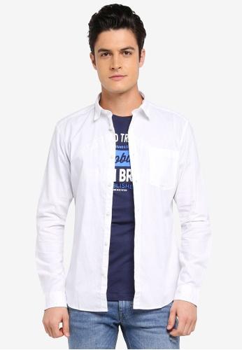 ESPRIT white Woven Long Sleeve Shirt 13D88AA88213CDGS_1