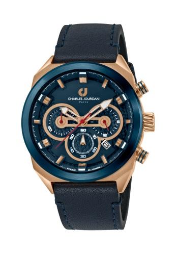 Charles Jourdan blue Charles Jourdan Men Watch Chronograph CJ1082-1582C C18B8AC5B4E774GS_1