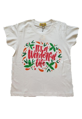 KAMDAR white Girls Short Sleeve  T/shirt 1F884KA3D43BCBGS_1