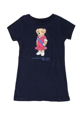 Polo Ralph Lauren navy Bear Printed T-shirt Dress 02B96KAD9796D1GS_1