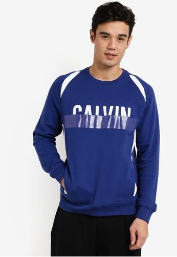 Calvin Klein blue Haldi Crew Neck Knit Sweater - Calvin Klein Jeans CA221AA05DTAMY_1
