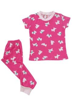 Terrier Dog Print Pajama Set