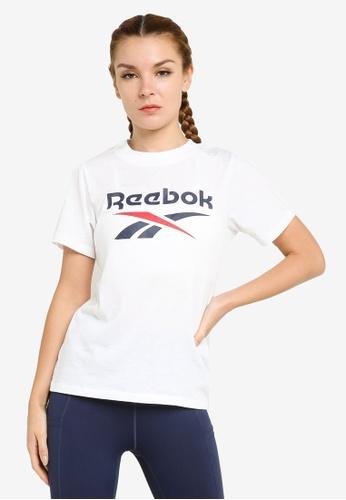 Reebok 白色 Identity Logo T-襯衫 415FCAA6AAA36CGS_1
