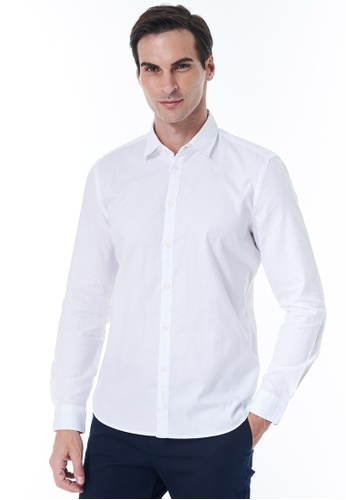 Sisley white Slim Fit Shirt CAFE1AA0DCE491GS_1