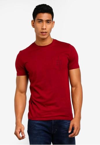 MANGO Man red and multi Logo Katun T-Shirt D8B93AAFC0C7ABGS_1