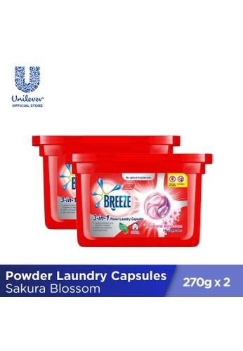 Breeze Breeze Sakura Blossom 3-in-1 Power Laundry Capsules 270g (18 pcs x 2 boxes) 47E4BESD9EFDC2GS_1