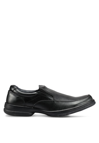 Bata black Perforated Dress Shoes F827BSHCCBC218GS_1