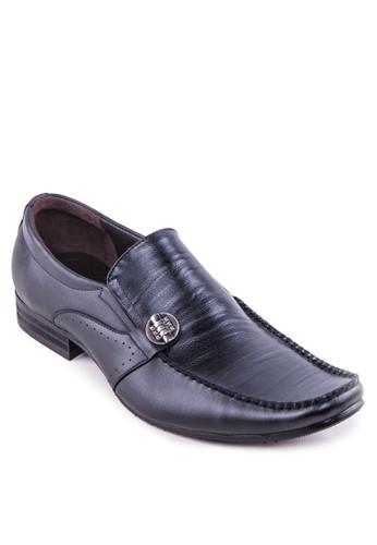 金飾沖孔方頭皮鞋, 鞋,esprit台灣outlet 皮鞋
