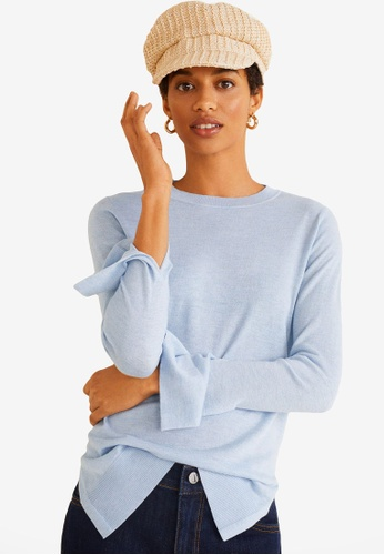 Mango blue Fine-Knit Sweater 3B347AAA4F9855GS_1