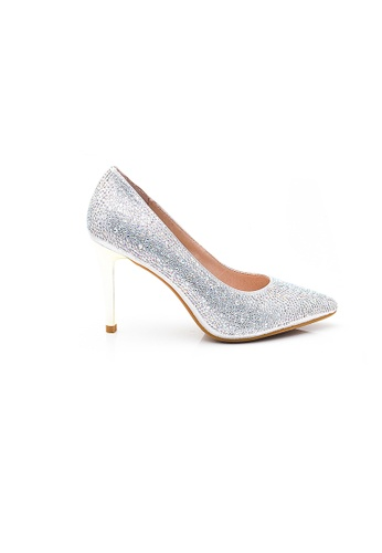 Elisa Litz silver Leane Heels (Silver) FCB69SH44F6EB3GS_1