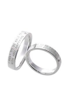 Let's Talk Silver Couple Ring with Diamonds lr0022