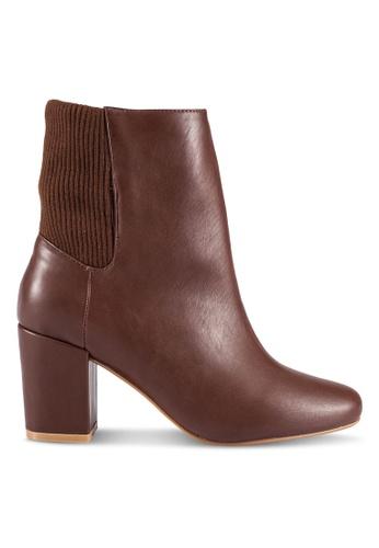 ZALORA brown PU Boots FC739SH4C679C7GS_1