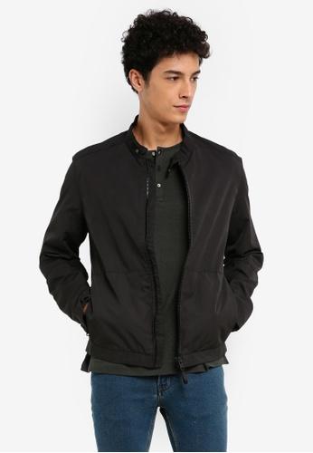 MANGO Man black Pocket Nylon Jacket 708C1AA9A6EC58GS_1
