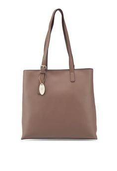 b80a429341 Perllini Mel brown Faux Leather Double Handle Shoulder Bag  5B64FACF65C195GS 1