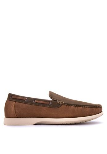 Huxley brown Uner Loafers HU539SH34QCJPH_1