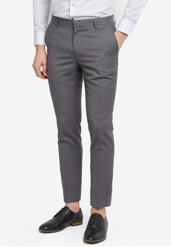 G2000 grey TR Twill Formal Ultra Slim Pants 1B3CAAA722FD78GS_1