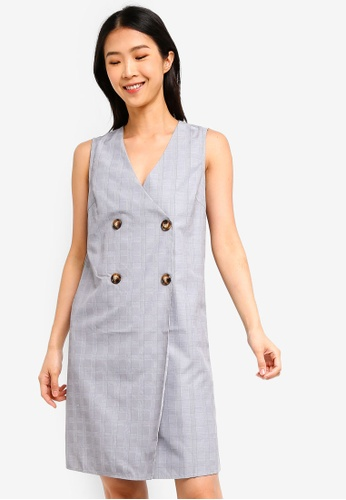 ZALORA BASICS multi Basic Double Breasted Dress 3E5D0AAACDCAE8GS_1