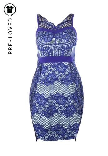 THREE FLOOR blue Pre-Loved three floor Blue Laced Dress 0704EAA1DB0581GS_1