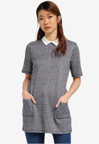 Dorothy Perkins black Check Tunic DO816AA0SJ5TMY_1