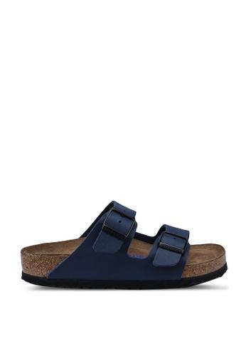 Birkenstock blue Arizona Birko-Flor Soft Footbed Sandals BI090SH95JPKMY_1